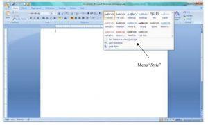 Cara membuat naskah di microsoft word