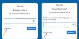 lupa sandi google mail